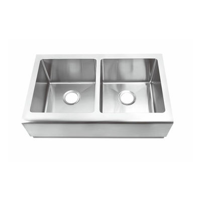 "Commercial 16 Gauge Stainless Steel Sink With Apron 32-7/8"" Lx20""Wx10"" H"