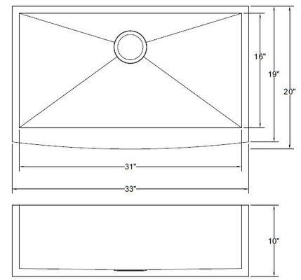 Double Bowl Stainless Apron Sink , Household Kitchen Sinks Undermount