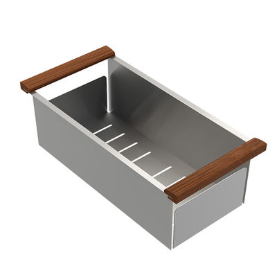 Durable Single Bowl Top Mount Sink , Handmade Stainless Steel Sink Brushed Surface