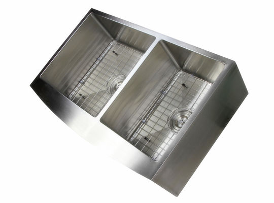36 Inch Apron Stainless Steel Kitchen Sink Curved Front Farm Brushed Surface / Apron Stainless Steel Kitchen Sink